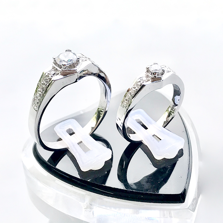 Nhẫn đôi bạc ND1098