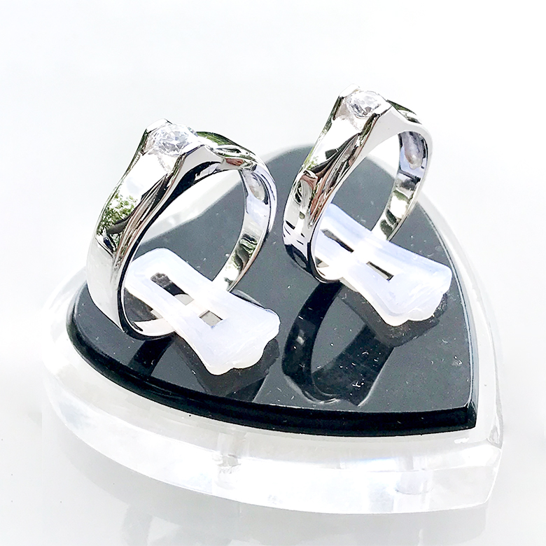 Nhẫn đôi bạc ND1090